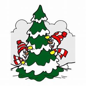 Disegno di Albero di Natale Innevato a colori per bambini disegnidacolorareonline