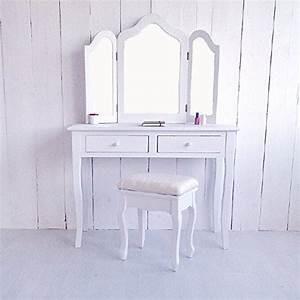 Schminktisch Weiß Mit Spiegel : lounge zone kosmetiktisch frisiertisch schminktisch madrid wei 3 gro e spiegel 2 schubladen ~ Bigdaddyawards.com Haus und Dekorationen