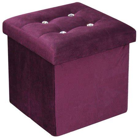 purple storage ottoman home basics storage ottoman with buttons purple