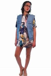 Blue Denim Vintage Vest For Women 1980s | Shpirulina.com ...