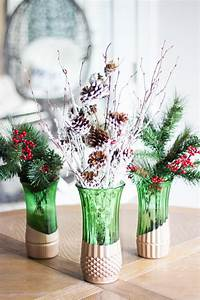 Company Holiday Party Metallic Dipped Christmas Diy Vase Allfreeholidaycrafts Com