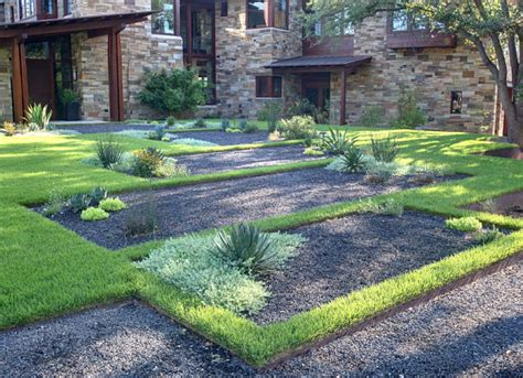 landscape designer definition gravel and grass define a contemporary yard decoist