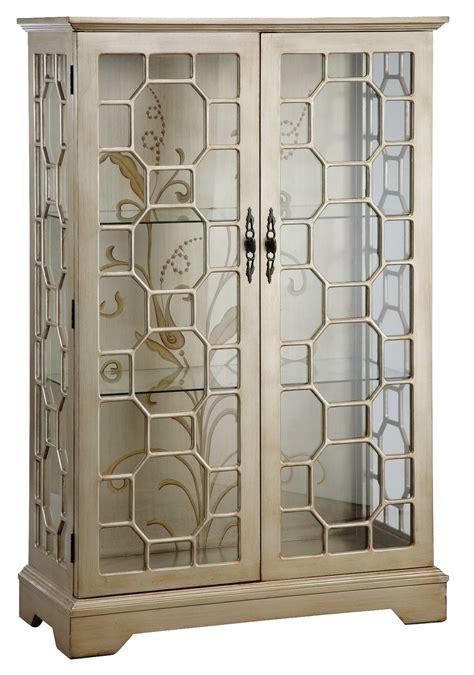 Metallic Curio Cabinet From Steinworld 47778 Coleman