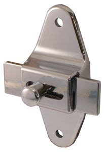 restroom stall door latch oval shape  bolt latch