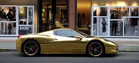 gold ferrari 458 gold ferrari 458 spider the billionaire shop
