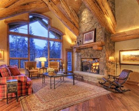 Fabulous Mountain House Design; Living Room Decoration