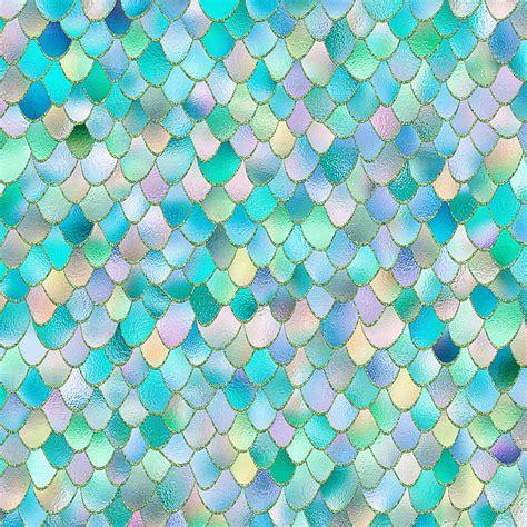 buy teal metal mermaid scales wall mural