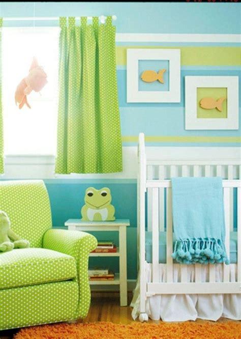 Wandgestaltung Kinderzimmer Grün Blau by Gr 252 N Blau Modern Wohnideen Babyzimmer J 252 Ngen Nursery