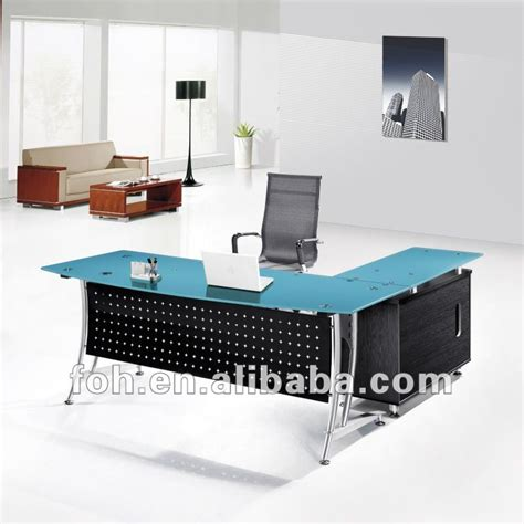 glass top office blue glass top modern office furniture office table fohj