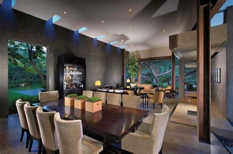 salle 224 manger contemporaine plafonnier avec 233 clairage led table 224 manger en bois massif et