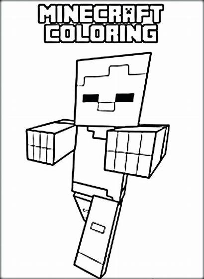 Minecraft Coloring Characters Coloriage Getdrawings Spider Imprimer