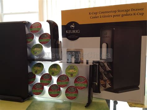 Keurig K Cup Countertop Storage Drawer - coffee talk and a giveaway for a new k cup countertop