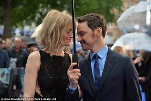 James McAvoy and his wife Anne-Marie Duff attend X-Men ...