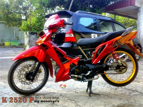 Foto Modifikasi Motor Supra by Modifikasi Motor Supra X 125 Warna Hitam Thecitycyclist