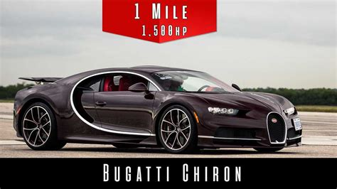 The bugatti veyron is a car built around an engine. Watch Bugatti Chiron hit insane speeds in one mile from a dead stop