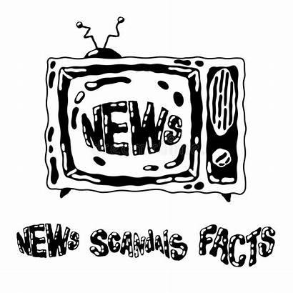 Drawn Cartoon Doodle Television Scandals Lettering Facts