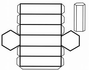 Recortable prisma hexagonal Manualidades para niños