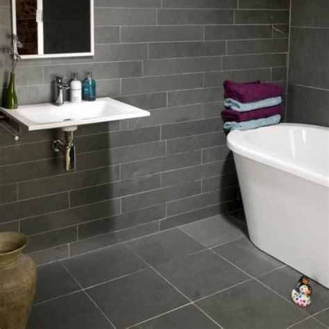 Grey Slate Bathroom Floor Tile Ideas