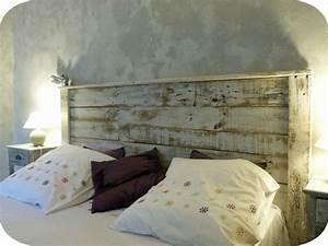 Tete De Lit Bois Vieilli : tete de lit palette de bois ~ Teatrodelosmanantiales.com Idées de Décoration