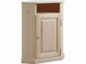 Petit Meuble De Rangement Conforama : petit meuble d 39 angle en bois brut vente de aubry gaspard conforama ~ Teatrodelosmanantiales.com Idées de Décoration