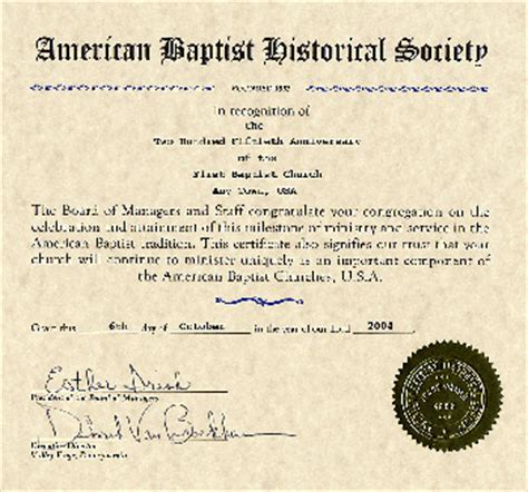 churches american baptist historical society