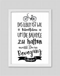 Das Leben Ist Wie Ein Fahrrad : fahrrad fahren artprint von whiterabbit lettering ideas and cards ~ Orissabook.com Haus und Dekorationen
