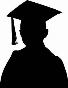Clipart - Graduation Boy Silhouette