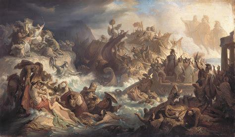 I Persiani Eschilo Riassunto by File Kaulbach Wilhelm Die Seeschlacht Bei Salamis