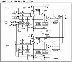 power tda7293 modular configuration negative supply With transistor tip36 datasheet application note electronic circuit