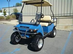 Same Model As Ours  Light Blue Golf Cart Club Car Ds