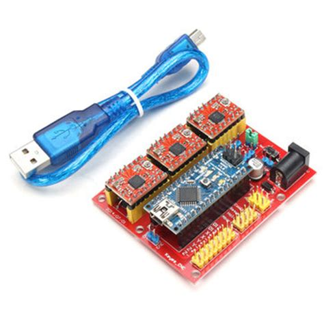 cnc shield v4 expansion board with nano a4988 for arduino