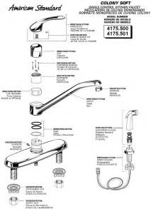 american standard kitchen faucet parts plumbingwarehouse american standard commercial faucet parts for models 4175 500 4175 501