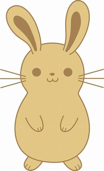 Clipart Arnab Rabbit Brown Koleksi Bunny