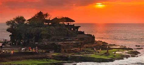 eksotisme sunset tanah lot bali  gambar video