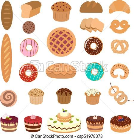 Pastry Clipart Pastry Illustrations Set Bread And Pie Muffins And