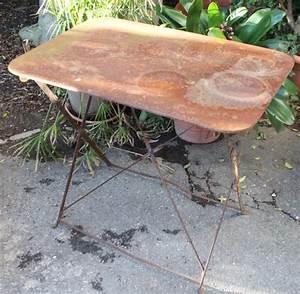 Puce De Jardin : table de jardin rectangulaire en fer puces d 39 oc brocante en ligne ~ Nature-et-papiers.com Idées de Décoration
