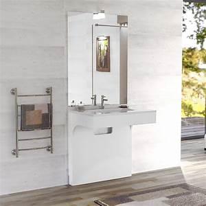 Meubles de salle de bain adaptes aux handicapes pmr for Meuble de salle de bain pmr