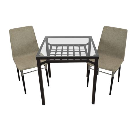 30 scroll metal and glass top dining table tables