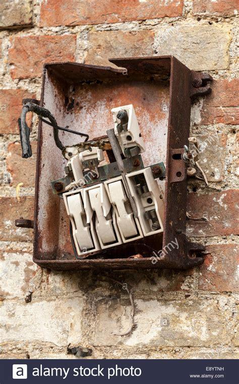 Broken Fuse In Fuse Box fashioned and broken fuse box stock photo 74370845