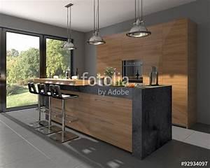 Küchenzeile Mit Kochinsel : k chenzeile mit granit und kochinsel stockfotos und lizenzfreie bilder auf bild ~ Orissabook.com Haus und Dekorationen
