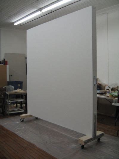 Rolling wall created for a painter in SoHo, NY as a studio