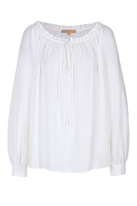peasant blouses white cotton peasant blouse with drape sleeve elizabeth