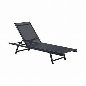 Bain De Soleil Noir : bain de soleil acier textil ne noir 1412d ozalide ~ Edinachiropracticcenter.com Idées de Décoration