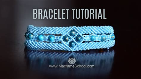 macrame window bracelet tutorial  macrame school youtube