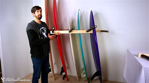 how to make a surfboard rack for your vertical surfboard wall rack wood surf rack