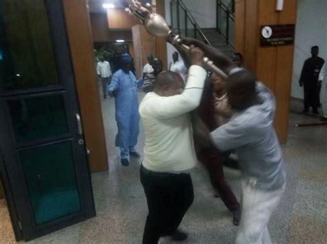 Thugs Invade Nigerian Senate Plenary, Snatch
