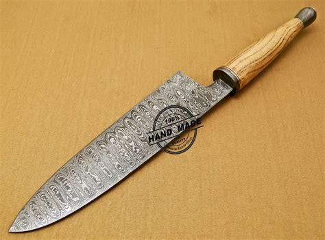 custom kitchen knives damascus chef knife custom handmade damascus kitchen chef