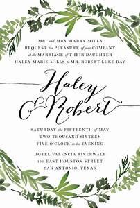 printable wedding invitation suite botanical wreath With free printable wedding invitations greenery