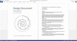 design document download ms word template With documents design definition