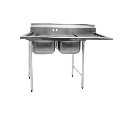Stainless Steel Utility Sink With Right Drainboard by Eagle 2 Compartment Stainless Steel Sink With Drainboard